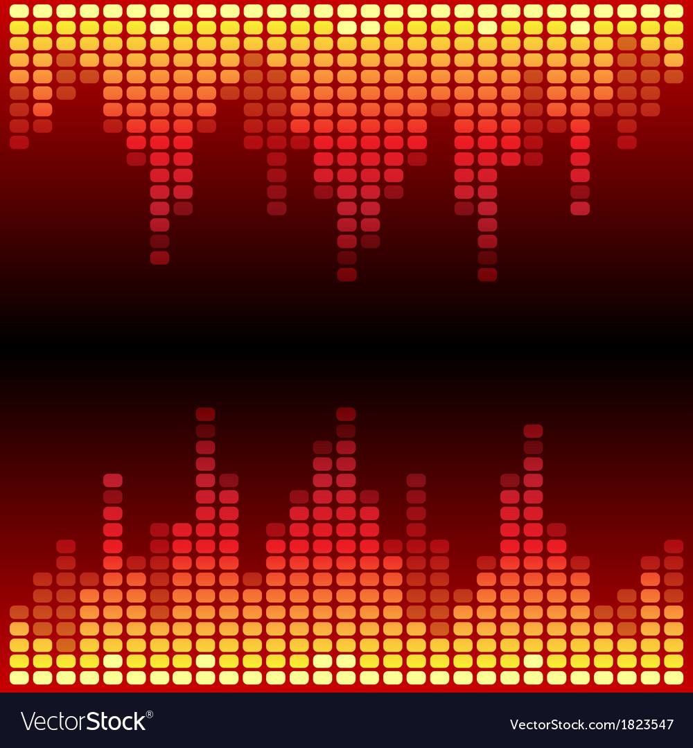 Red and orange digital equalizer background vector | Price: 1 Credit (USD $1)