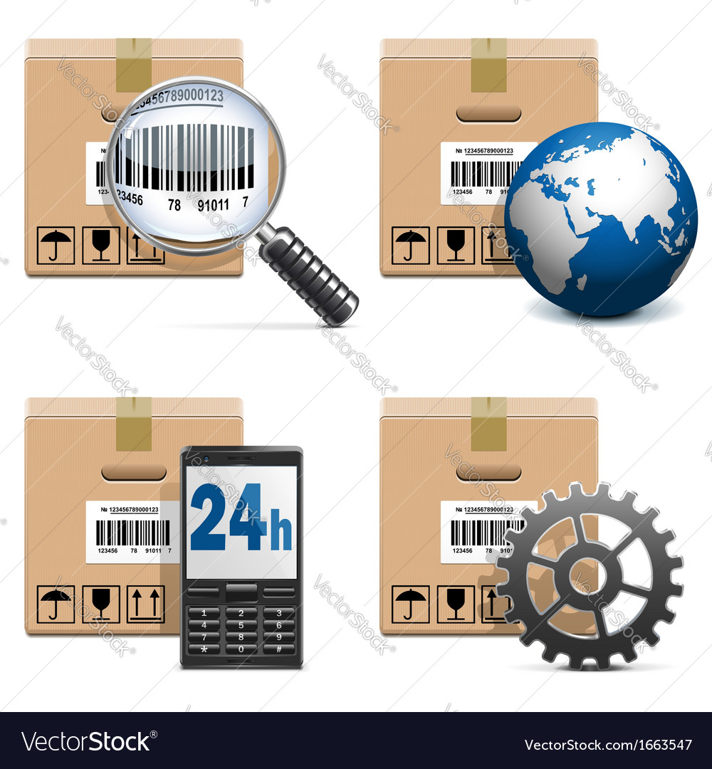 Shipment icons set 15 vector | Price: 1 Credit (USD $1)