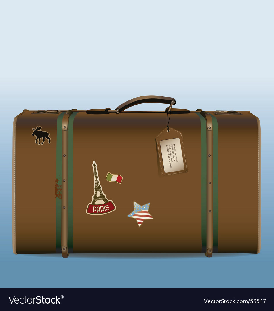 Vintage suitcase vector | Price: 1 Credit (USD $1)