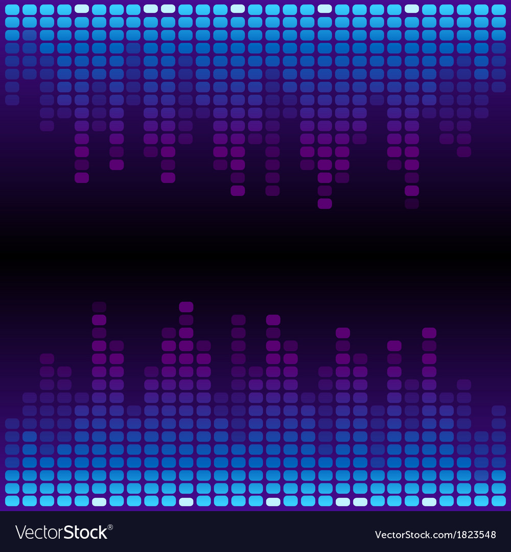 Blue and purple digital equalizer background vector | Price: 1 Credit (USD $1)