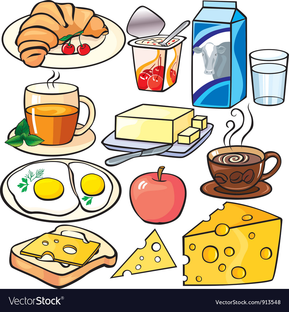 Breakfast icons set vector | Price: 3 Credit (USD $3)