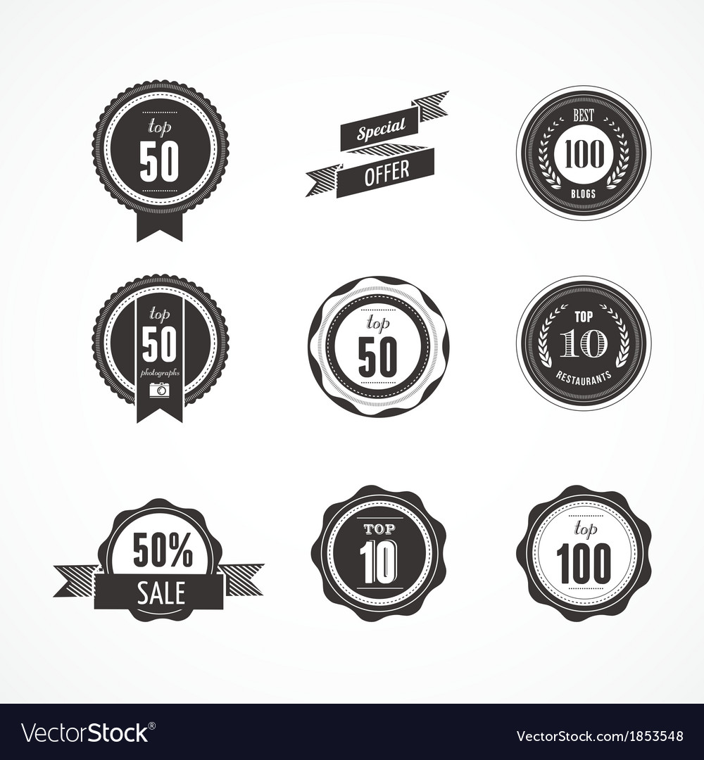 Collection of premium quality and labels vector | Price: 1 Credit (USD $1)