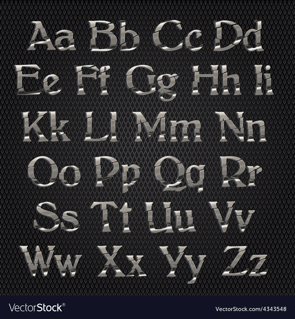 Cut alphabet metallic vector   Price: 1 Credit (USD $1)