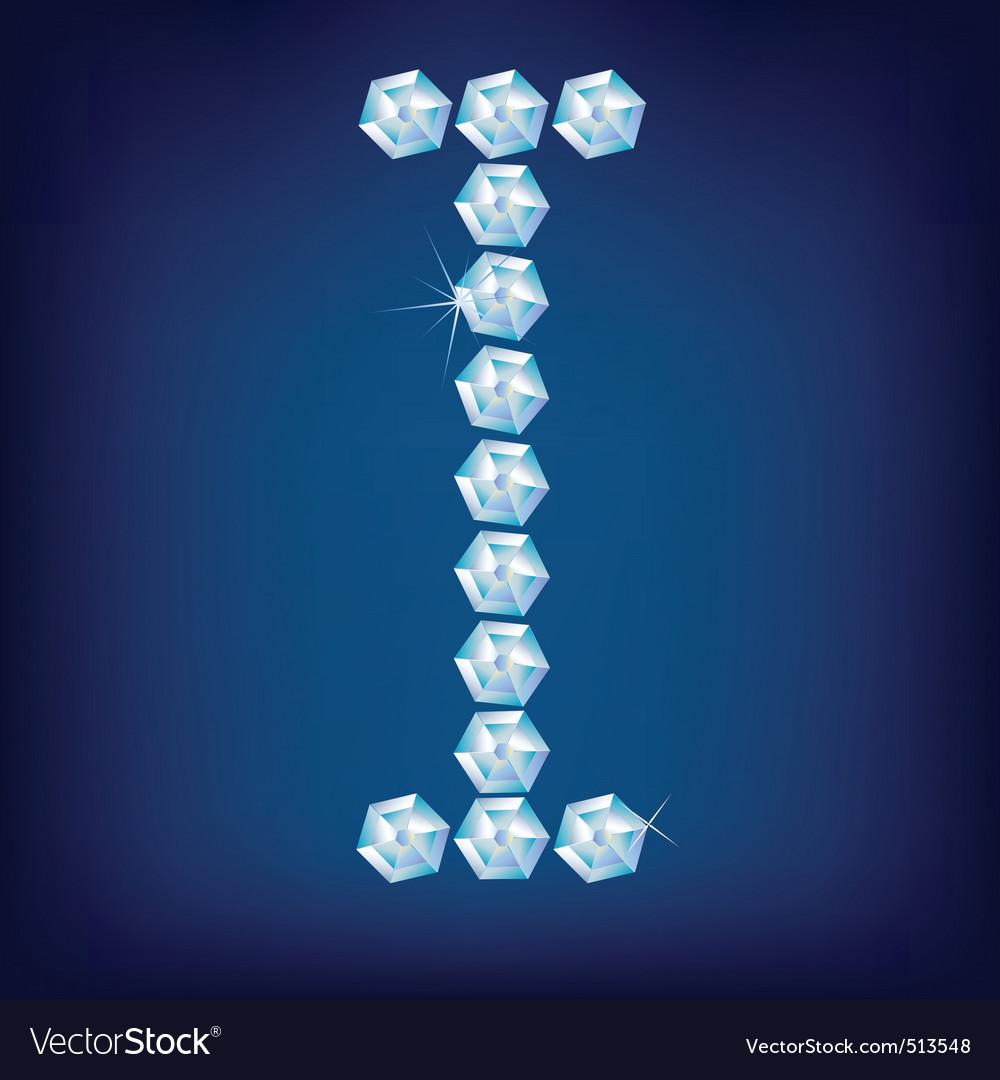 diamond alphabet letter i vector   Price: 1 Credit (USD $1)