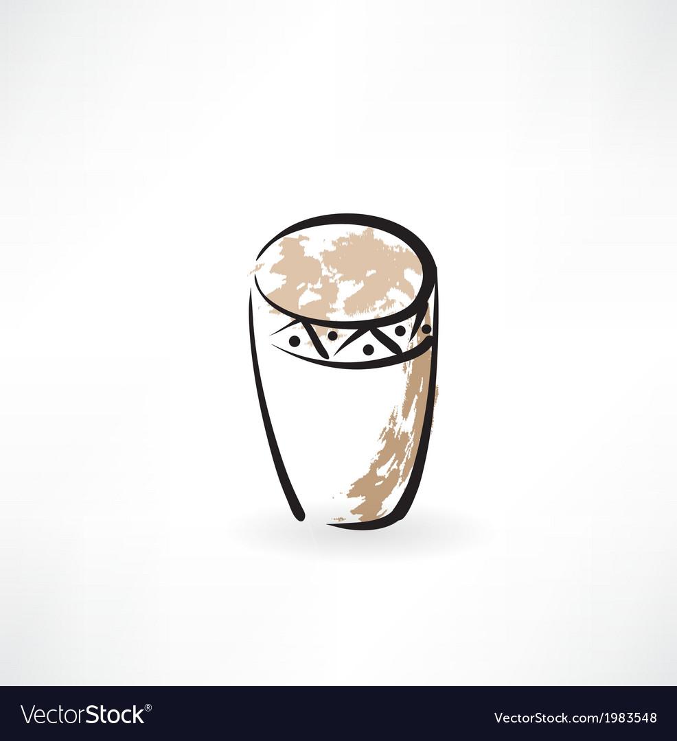 Drum grunge icon vector | Price: 1 Credit (USD $1)
