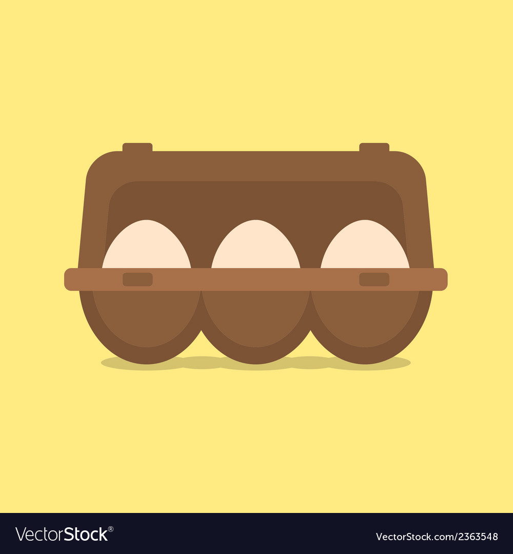 Egg container vector | Price: 1 Credit (USD $1)