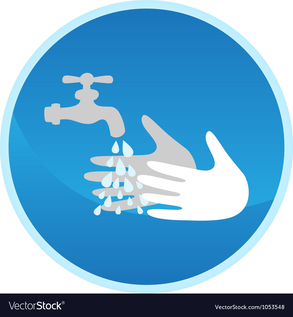Hand washing sign vector | Price: 1 Credit (USD $1)