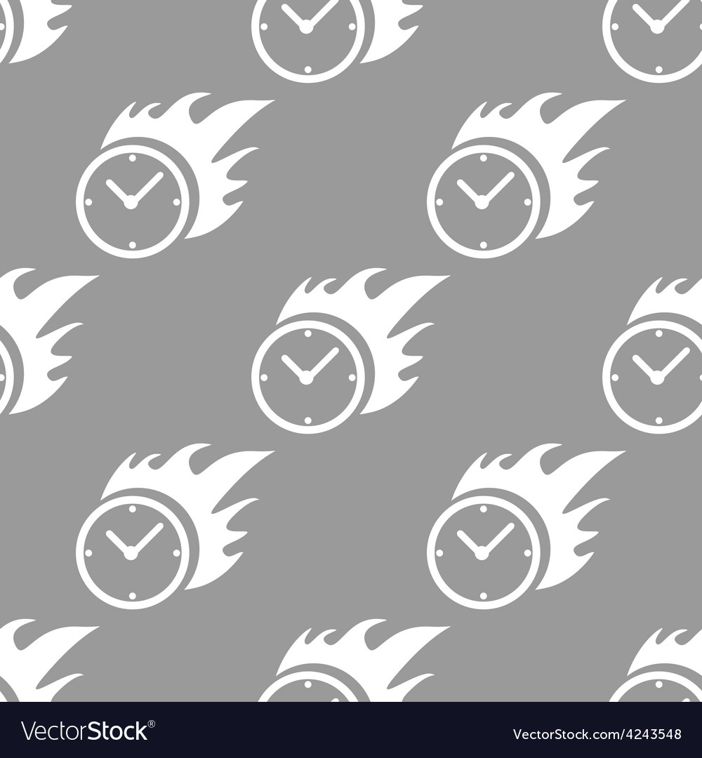 Hot clock seamless pattern vector | Price: 1 Credit (USD $1)