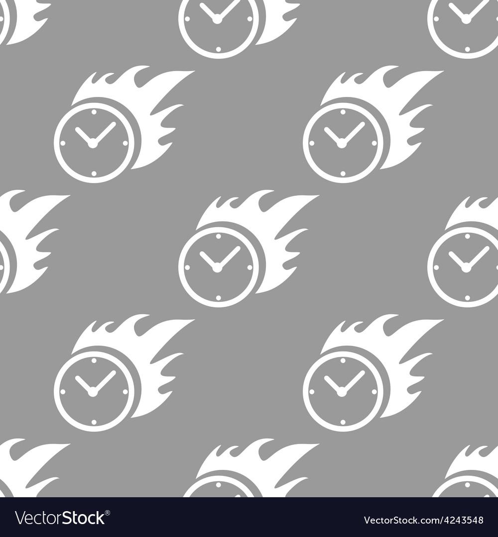 Hot clock seamless pattern vector | Price: 1 Credit (USD $1)