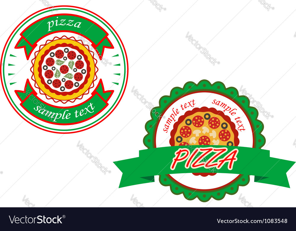 Italian pizza banners vector | Price: 1 Credit (USD $1)