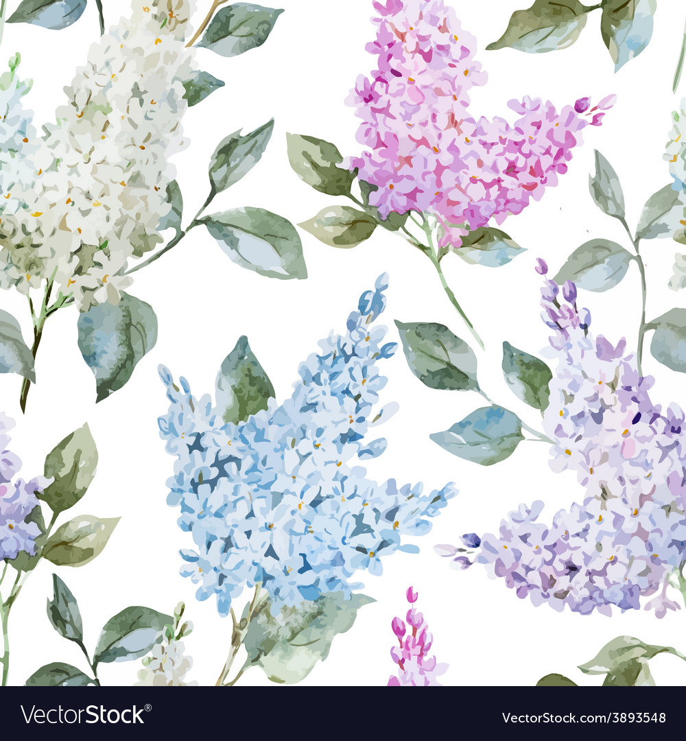 Lilac pattern vector | Price: 1 Credit (USD $1)