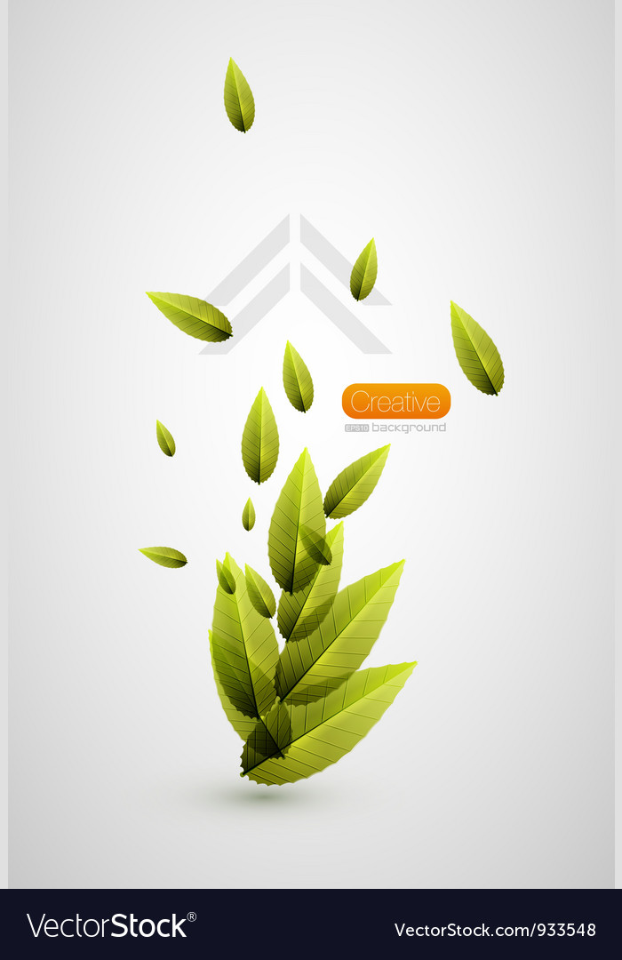 Nature flying leaves background vector | Price: 1 Credit (USD $1)