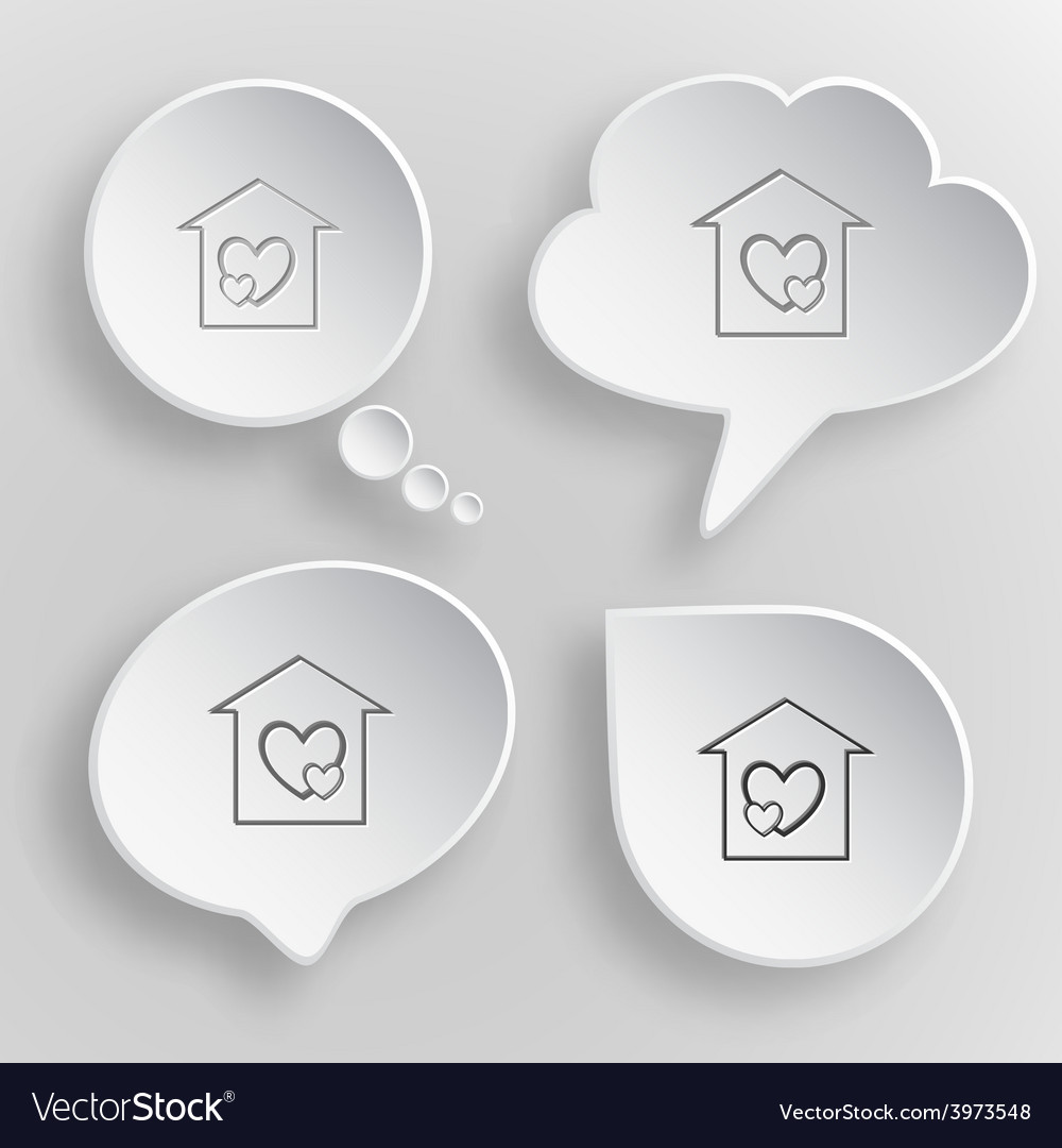 Orphanage white flat buttons on gray background vector   Price: 1 Credit (USD $1)