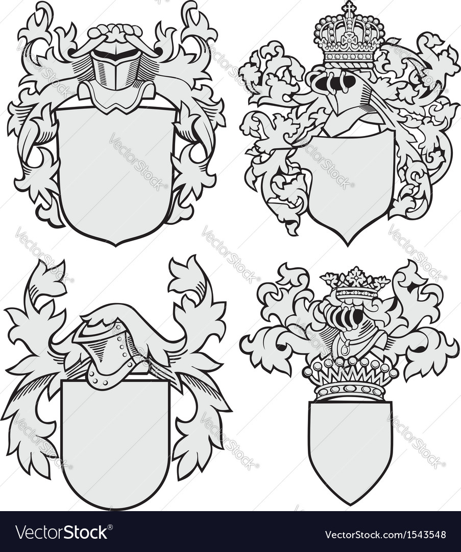 Set of aristocratic emblems no8 vector | Price: 1 Credit (USD $1)