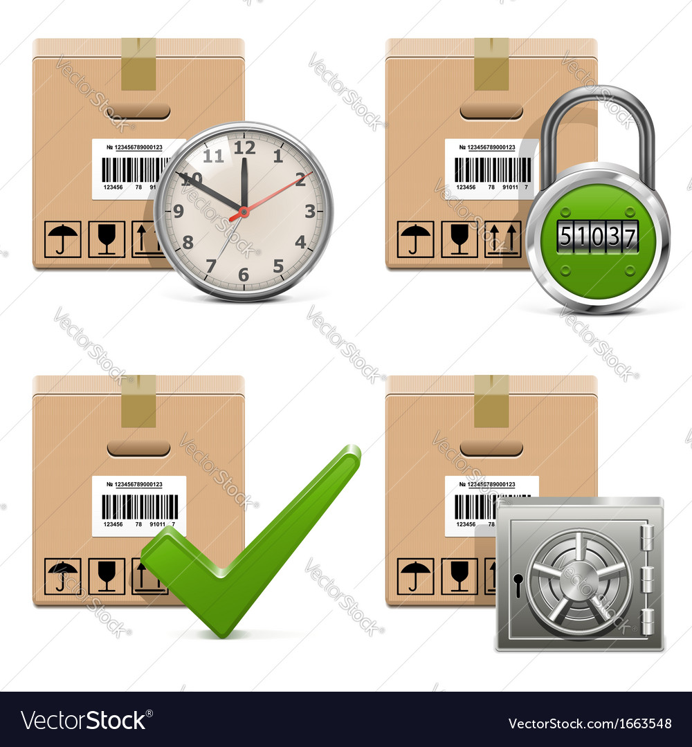 Shipment icons set 16 vector | Price: 1 Credit (USD $1)