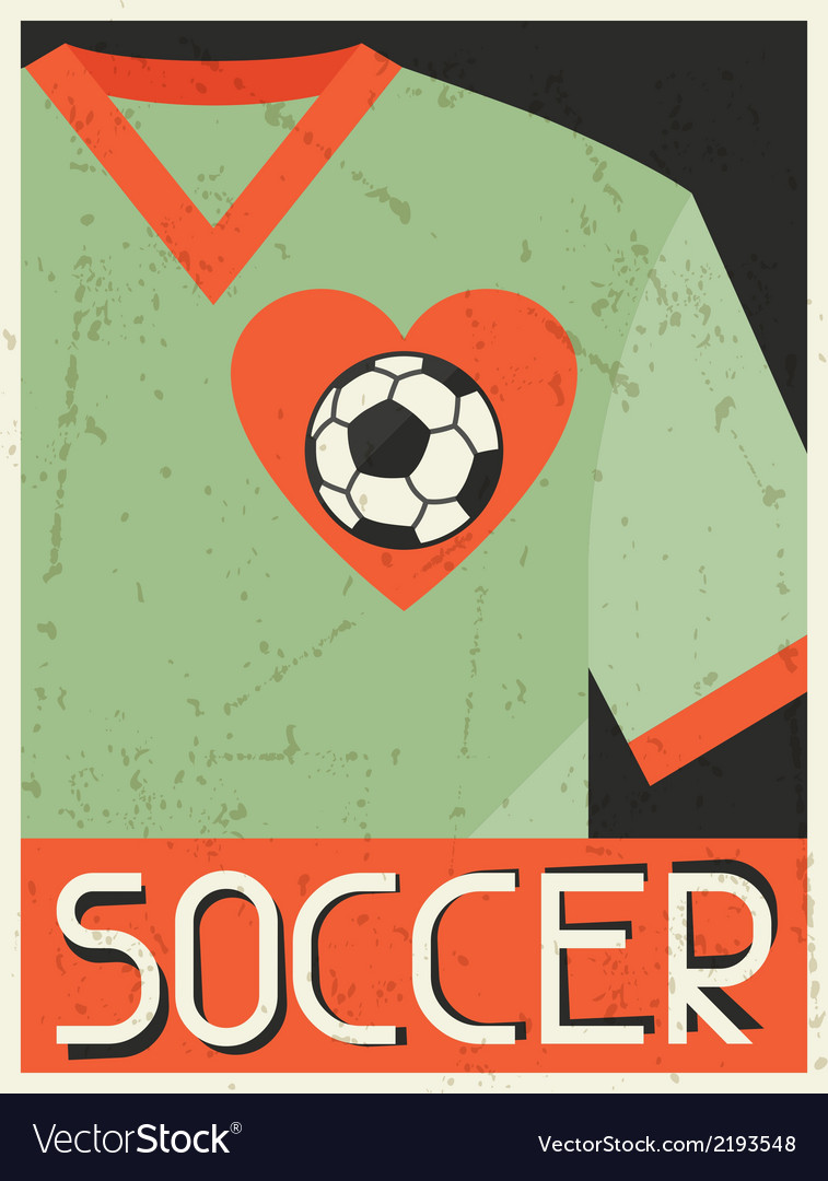 Soccer retro poster in flat design style vector | Price: 1 Credit (USD $1)