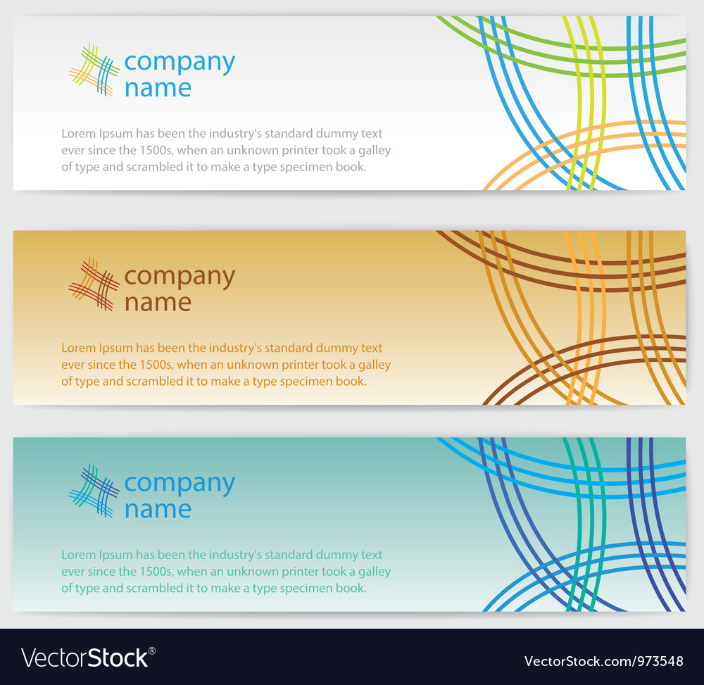 Three invitation cards with lines on background vector | Price: 1 Credit (USD $1)