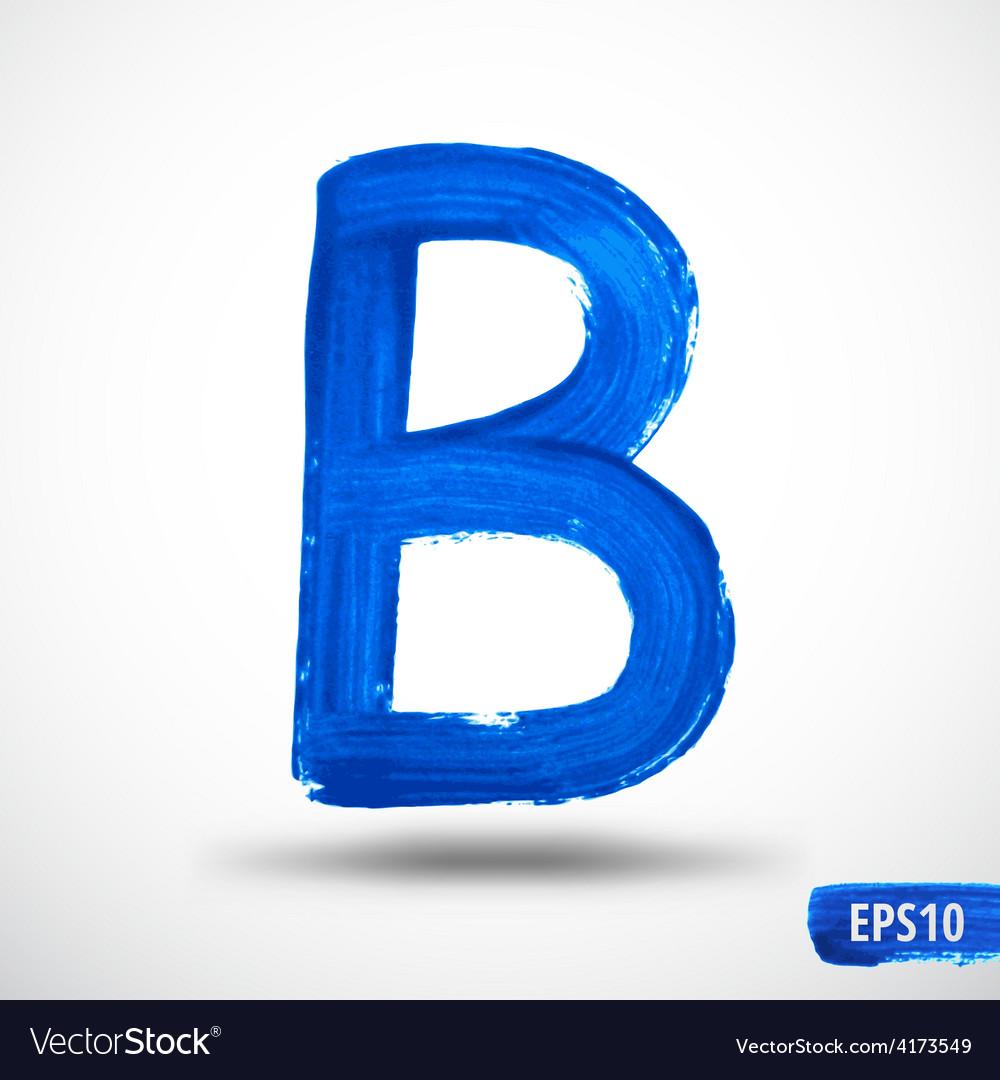 Alphabet letter b watercolor alphabet vector | Price: 1 Credit (USD $1)