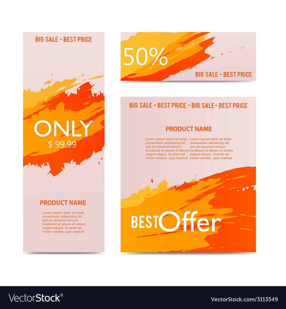 Artistic sale banners vector | Price: 1 Credit (USD $1)