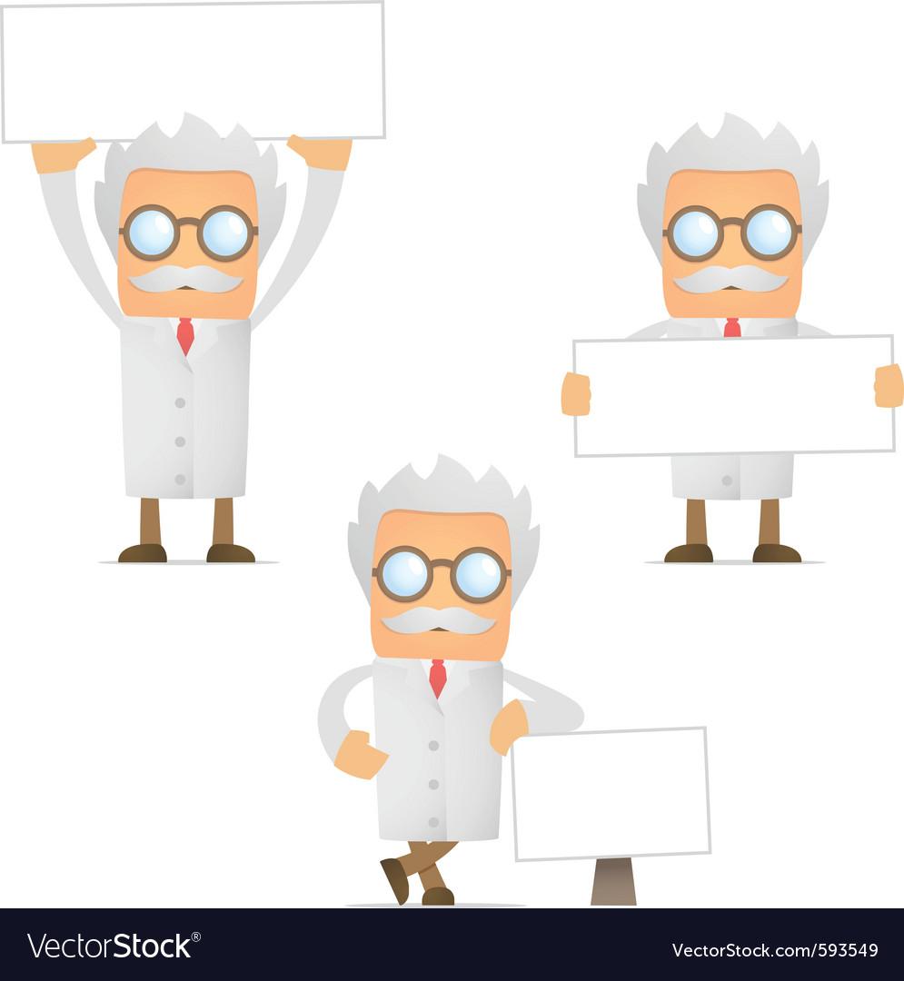 Cartoon scientist vector