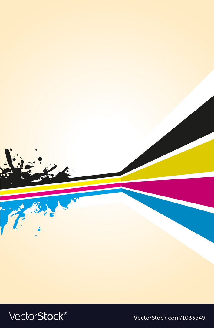 Cmyk spash background vector | Price: 1 Credit (USD $1)