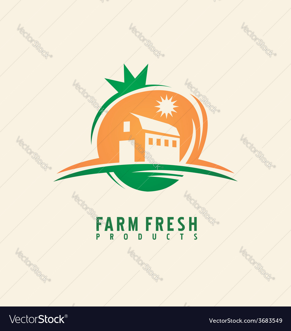 Farm fresh product label design layout vector | Price: 1 Credit (USD $1)