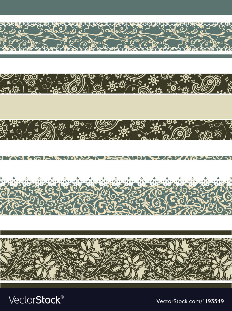Floral borders vector | Price: 1 Credit (USD $1)