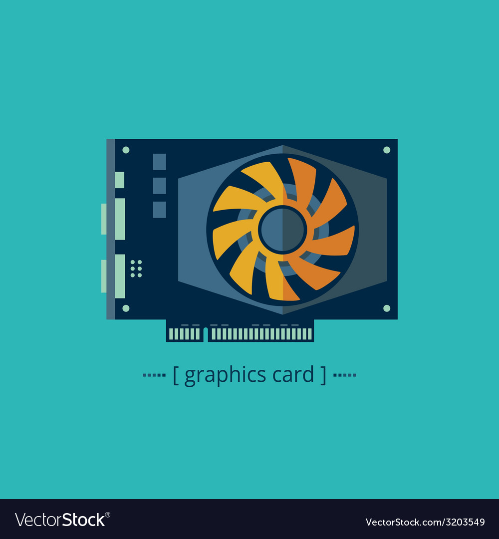 Graphics card vector | Price: 1 Credit (USD $1)