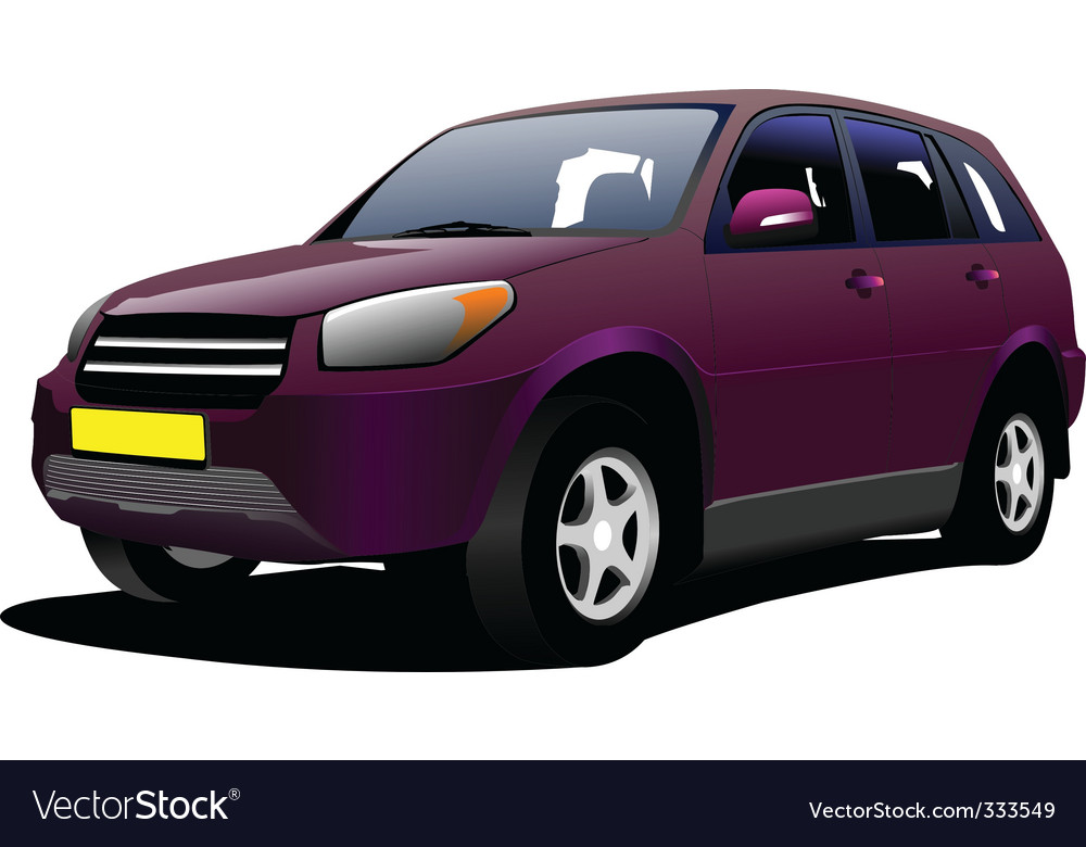 Mini van vector | Price: 1 Credit (USD $1)