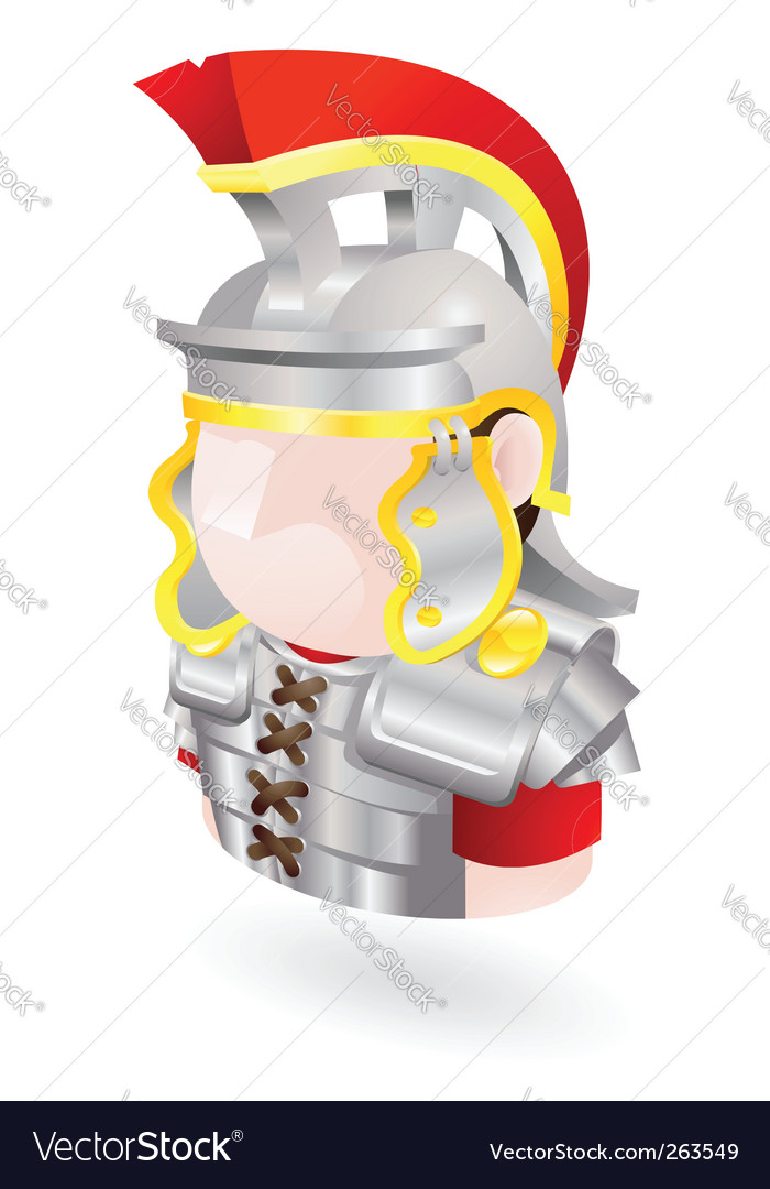 Roman soldier icon vector | Price: 1 Credit (USD $1)