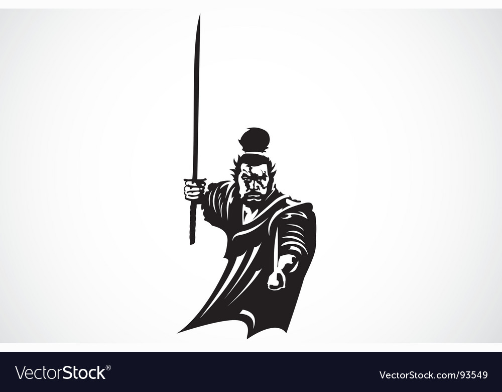 Samurai warrior vector | Price: 1 Credit (USD $1)