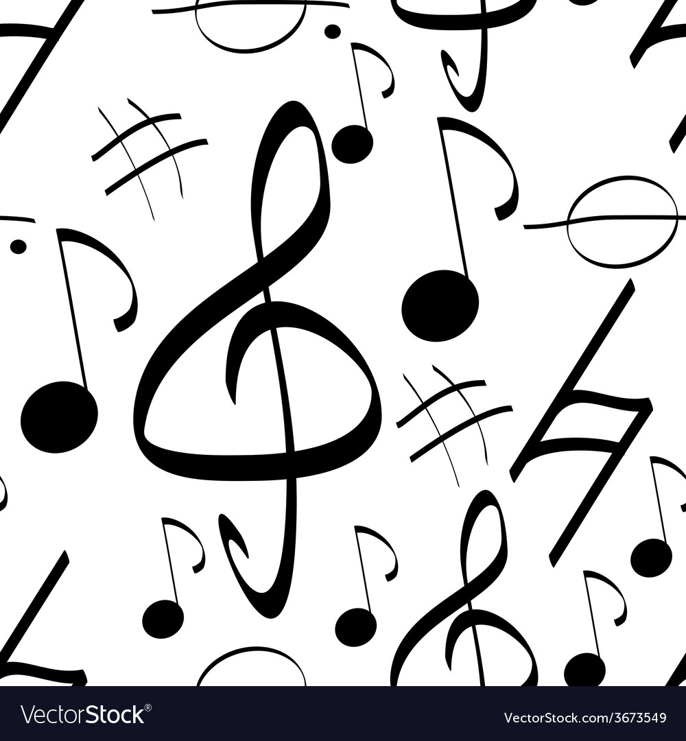 Seamless pattern music signs background vector | Price: 1 Credit (USD $1)