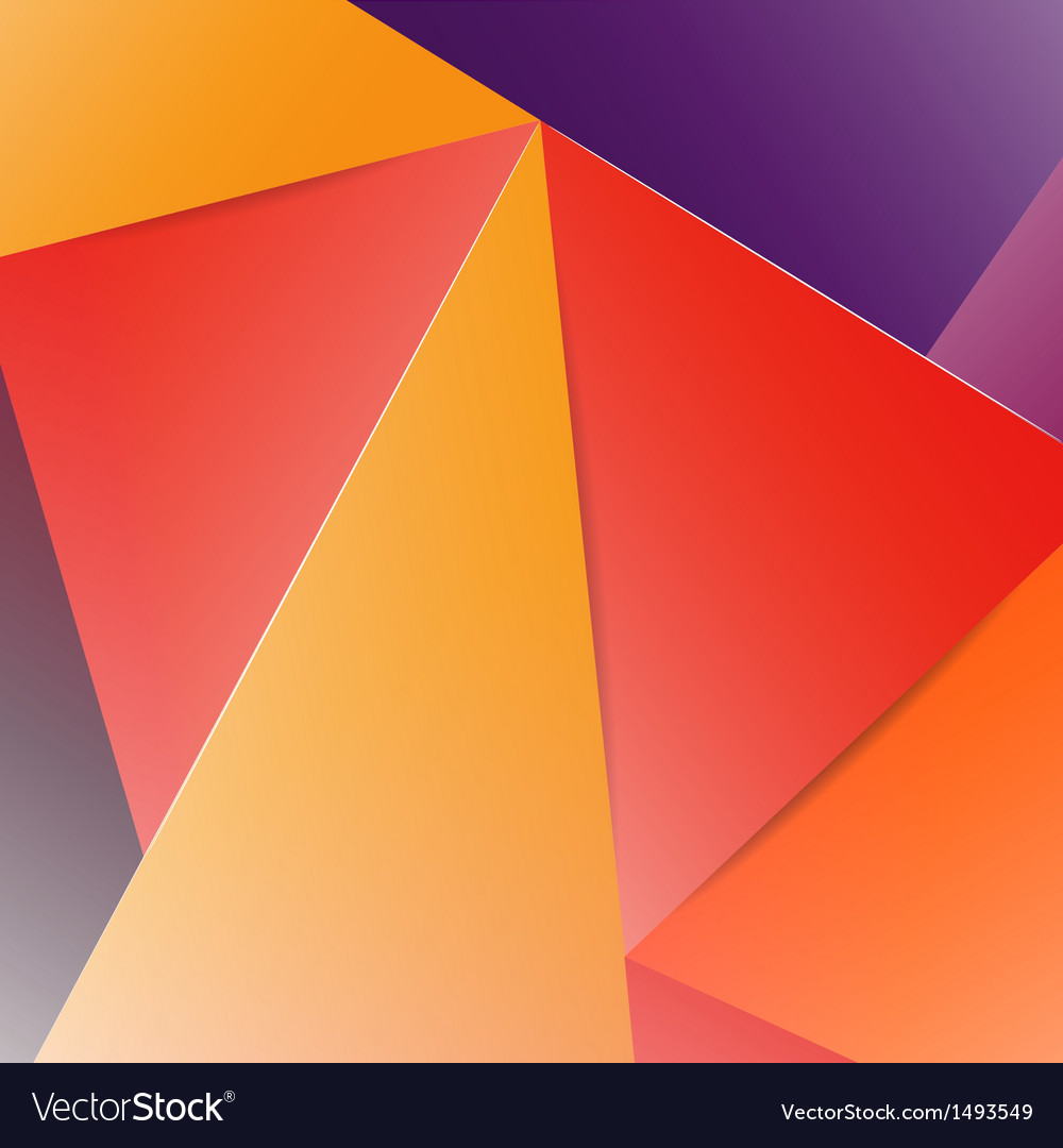 Spectrum geometric background made of triangles vector | Price: 1 Credit (USD $1)
