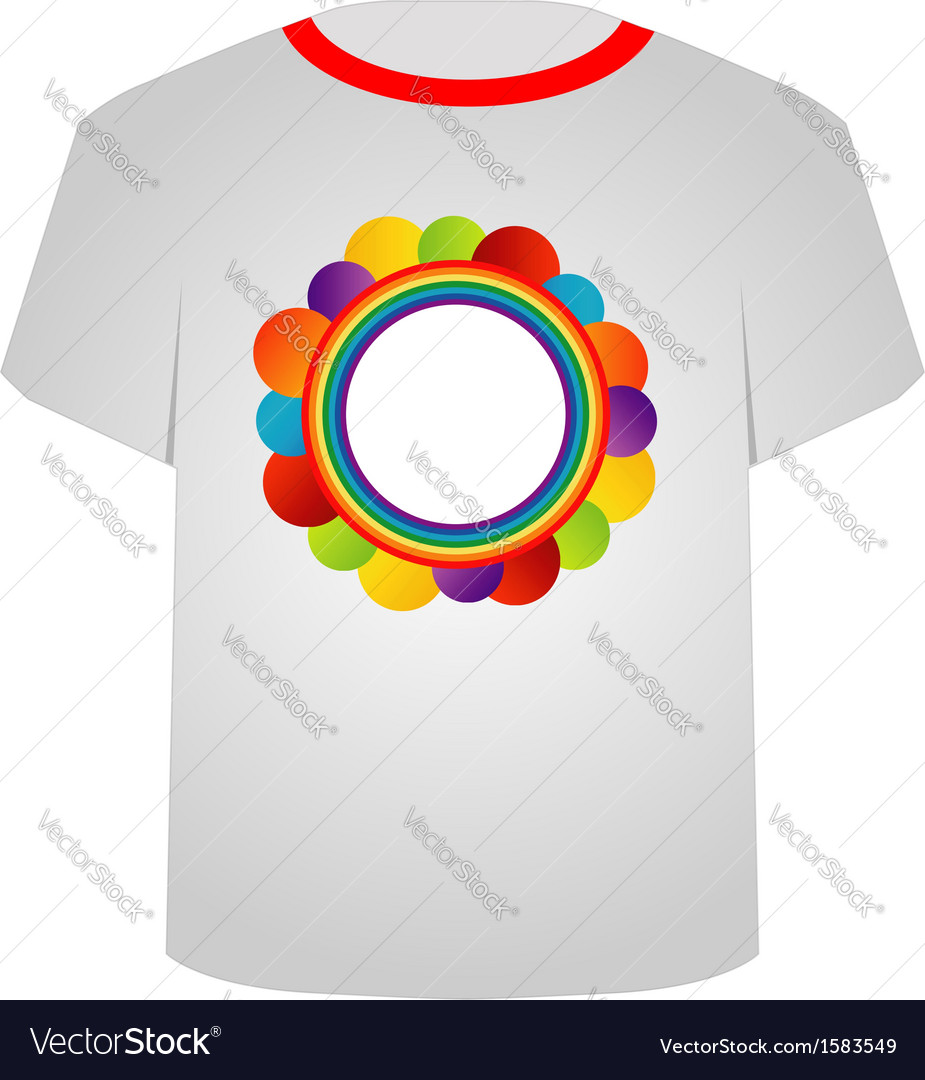 T shirt template- circle art vector | Price: 1 Credit (USD $1)