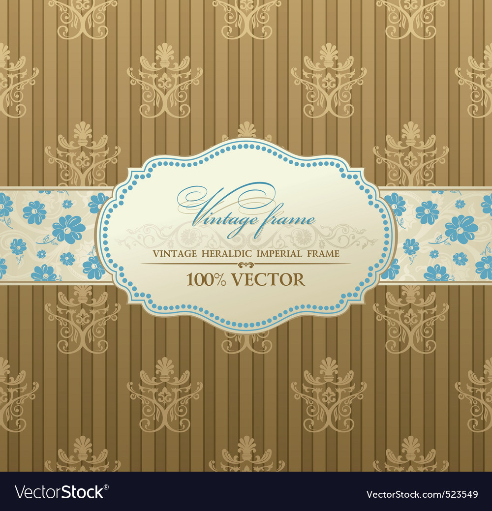 Tion vintage label vector frame vector | Price: 1 Credit (USD $1)