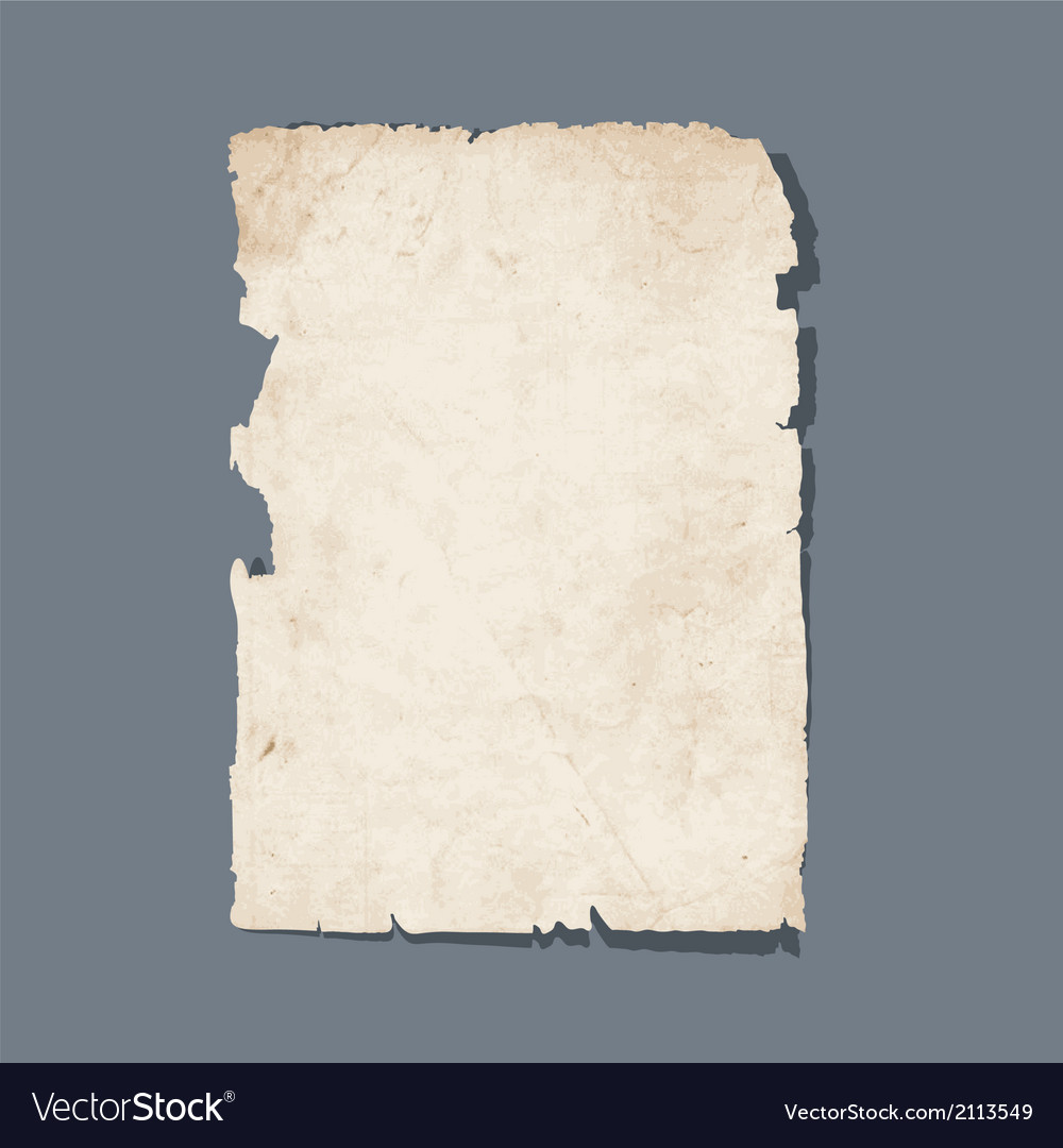 Torn sheet of old paper vector | Price: 1 Credit (USD $1)