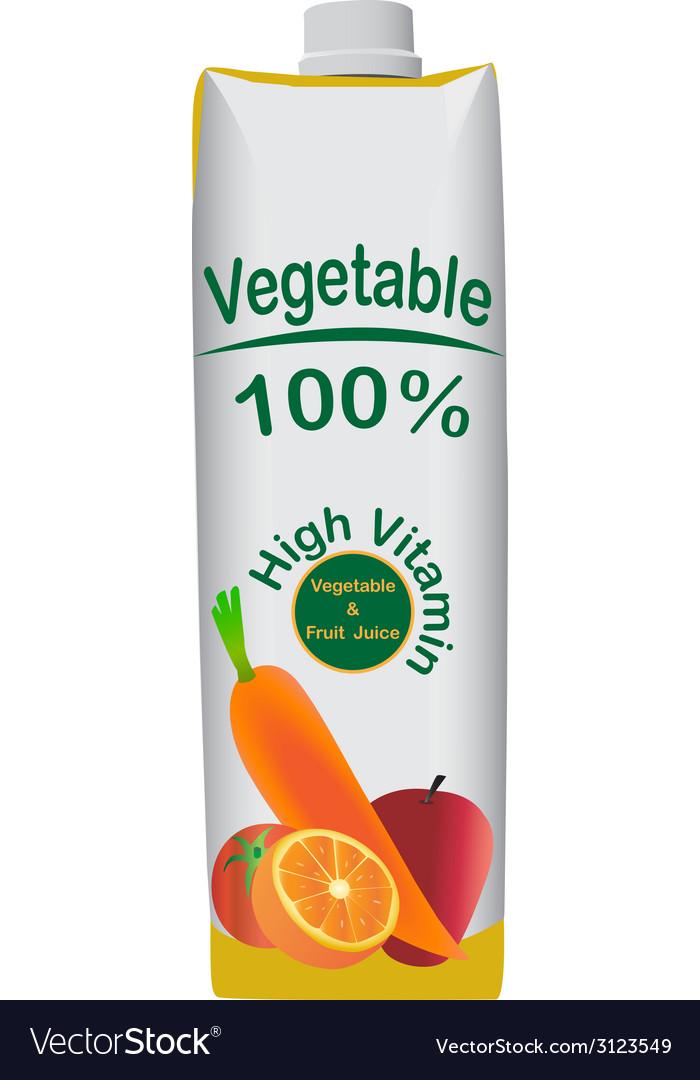 Vegetable juice vector | Price: 1 Credit (USD $1)