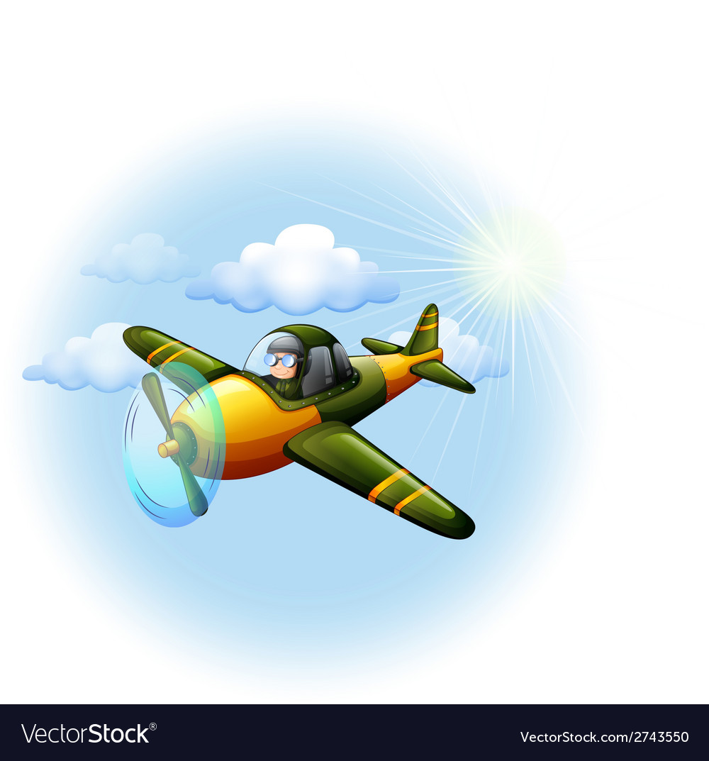 An airplane in the sky vector | Price: 1 Credit (USD $1)