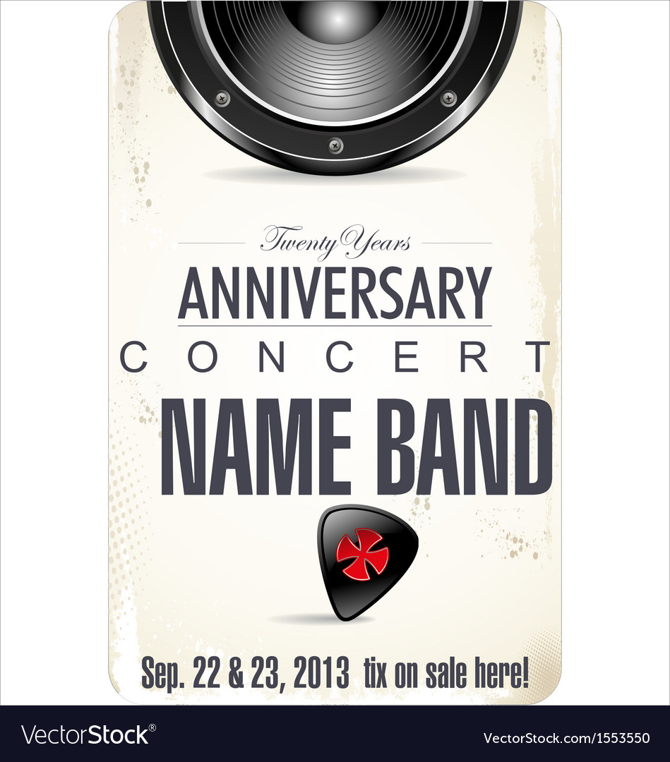 Anniversary rock concert poster vector | Price: 1 Credit (USD $1)