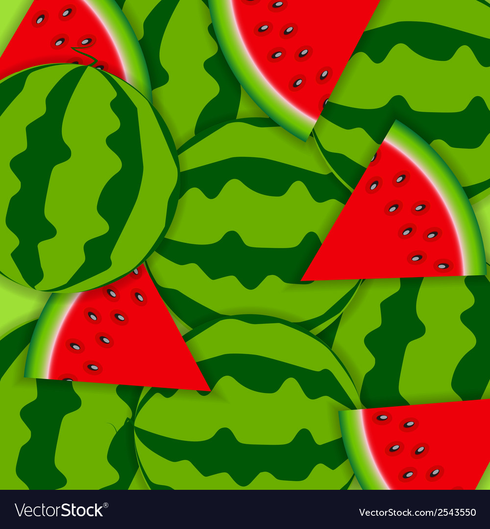 Background from watermelon vector | Price: 1 Credit (USD $1)
