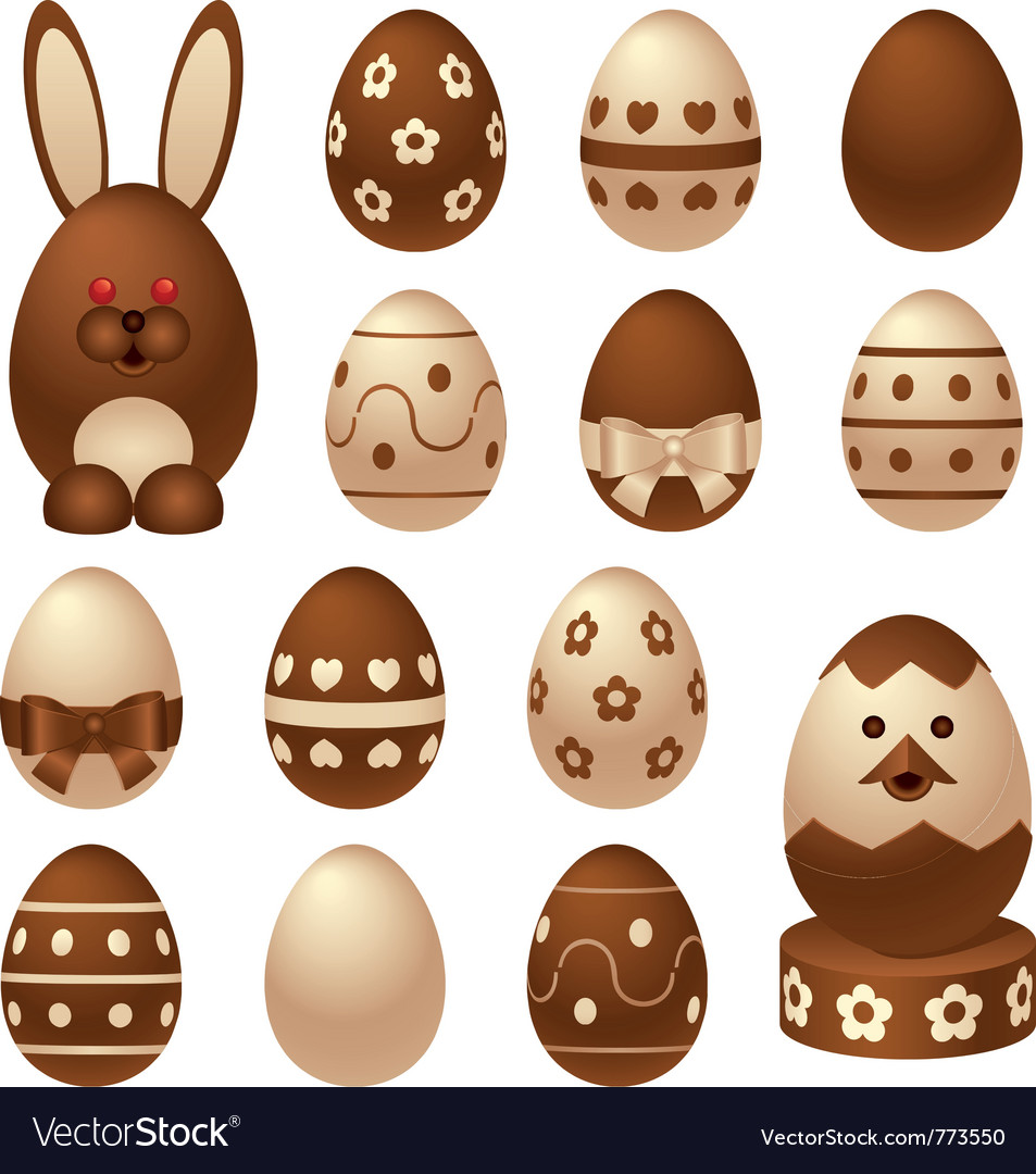 Chocolate easter figures vector | Price: 1 Credit (USD $1)