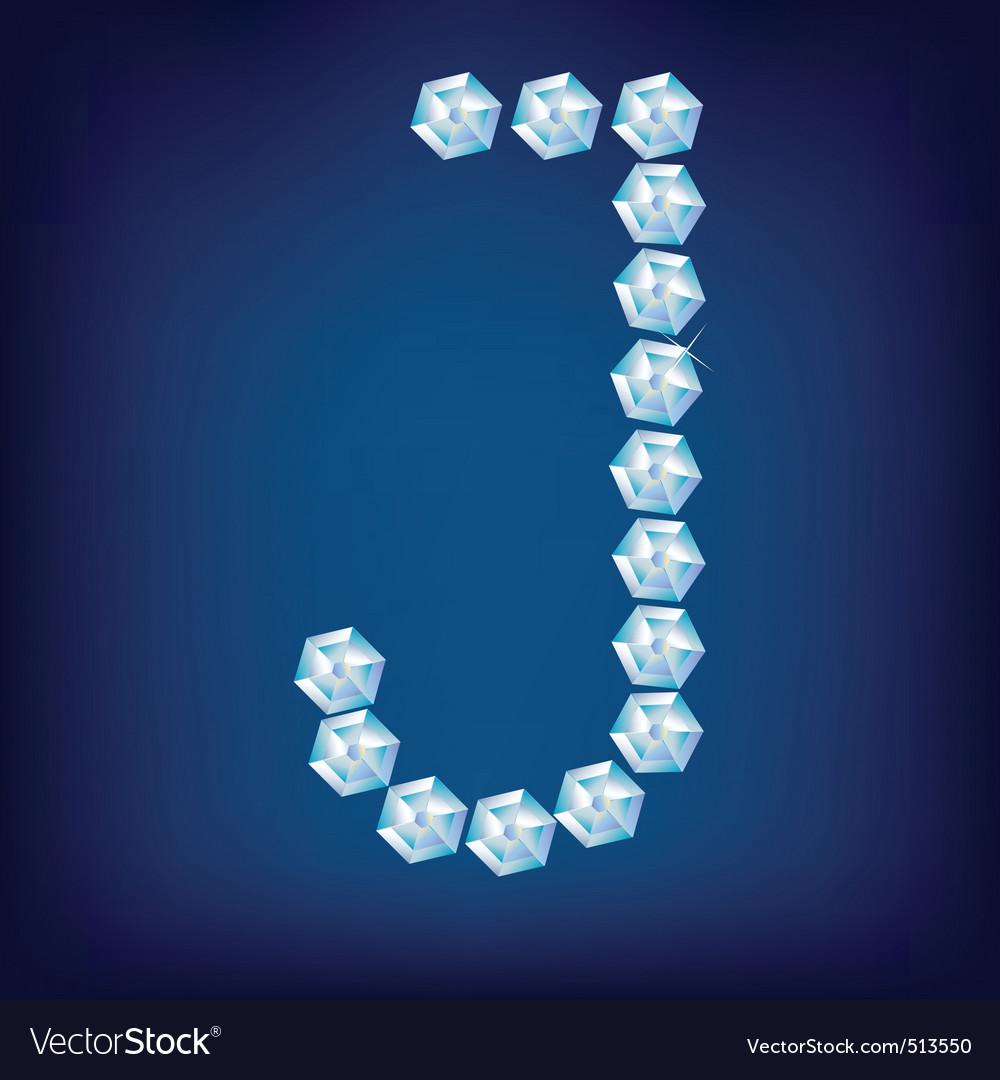 diamond alphabet letter j vector   Price: 1 Credit (USD $1)