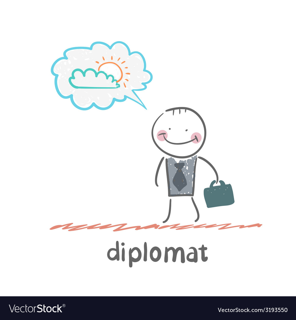 Diplomat vector | Price: 1 Credit (USD $1)