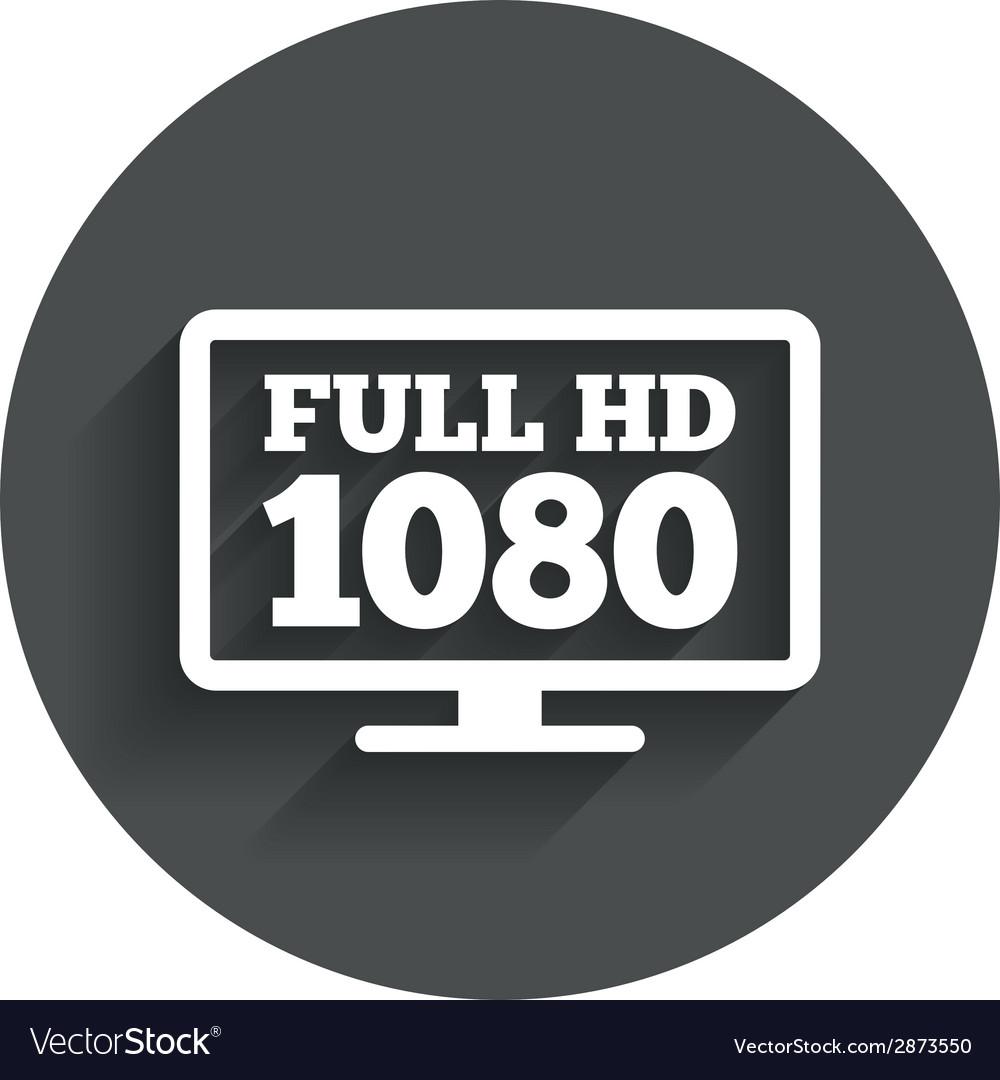 Full hd widescreen tv 1080p symbol vector | Price: 1 Credit (USD $1)