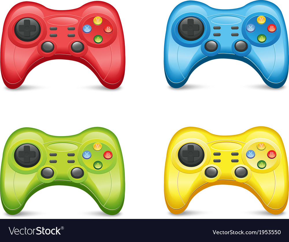 Gamepad set vector | Price: 1 Credit (USD $1)