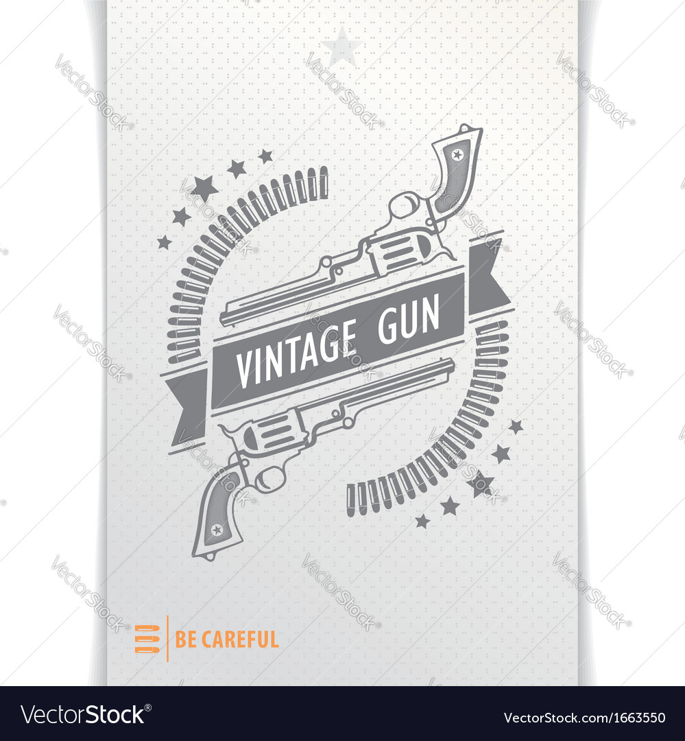 Gray graphic pattern guns and bullets vector | Price: 1 Credit (USD $1)
