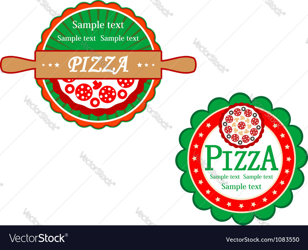 Italian pizza symbols and banners vector | Price: 1 Credit (USD $1)