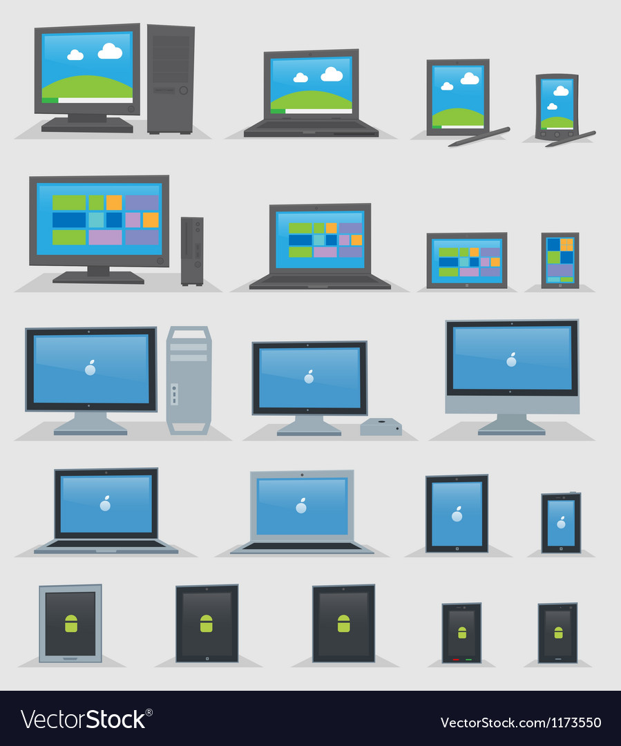 Os devices vector | Price: 3 Credit (USD $3)