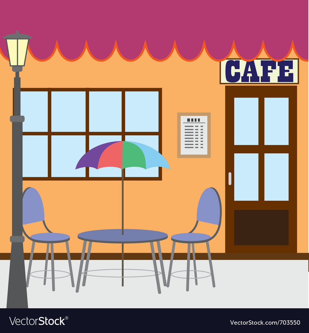 Outside cafe shop vector | Price: 1 Credit (USD $1)