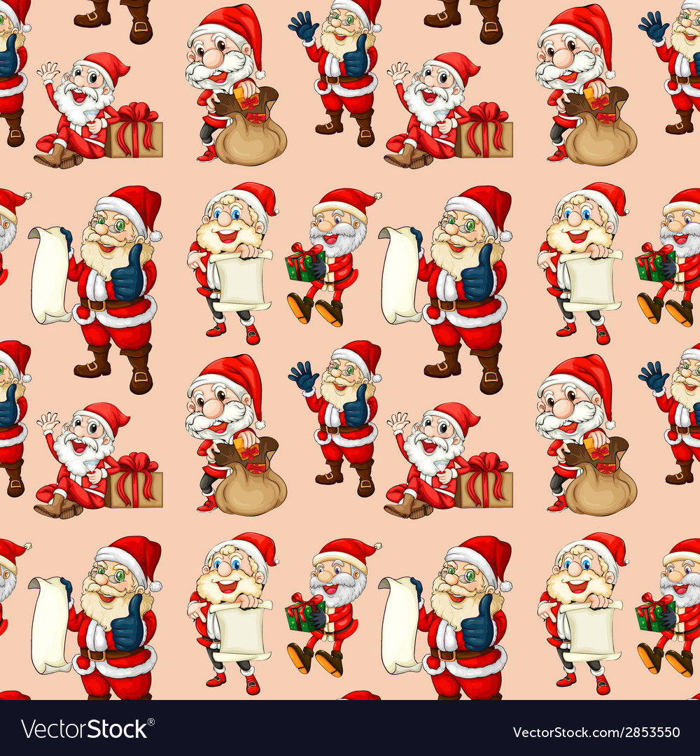 Seamless santa clause vector | Price: 3 Credit (USD $3)